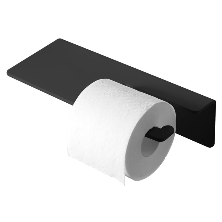 Puro Toilet Paper Holder by Radius Design in Black