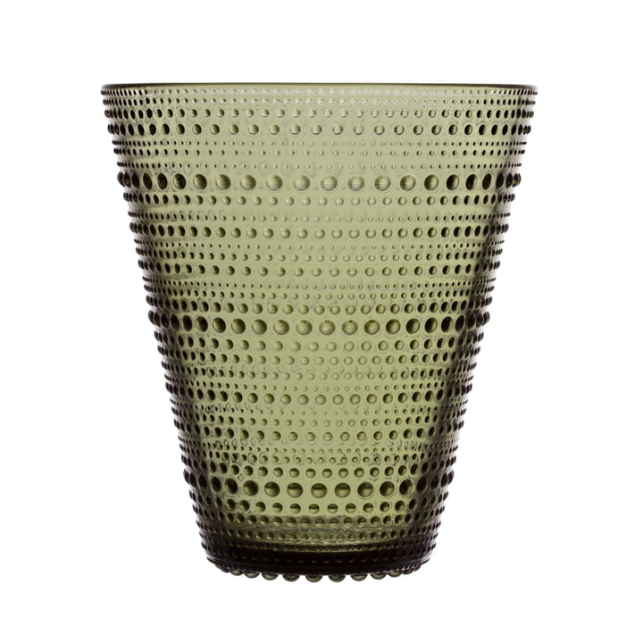 The Iittala - Kastehelmi Vase 154 mm, moss green