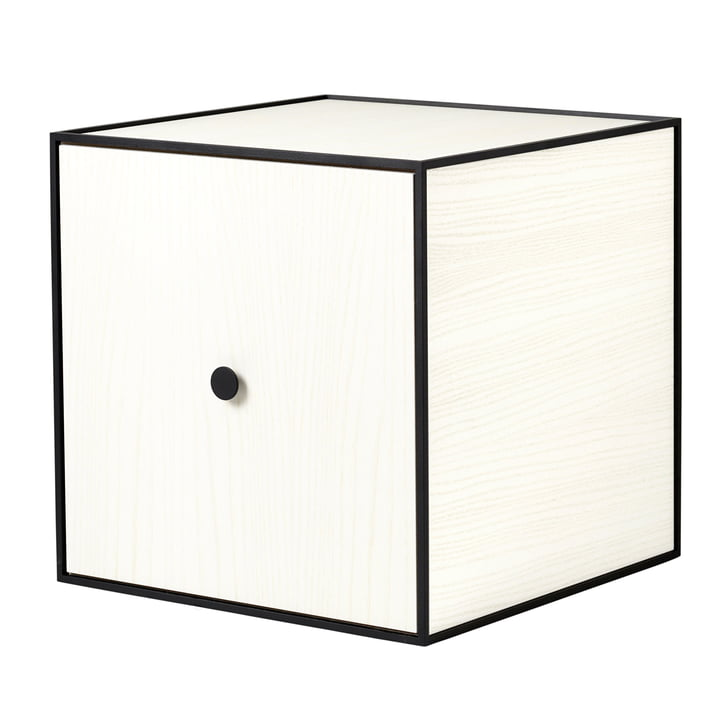 Frame Cabinet 35 (with door) from by Lassen in White Stained Ash