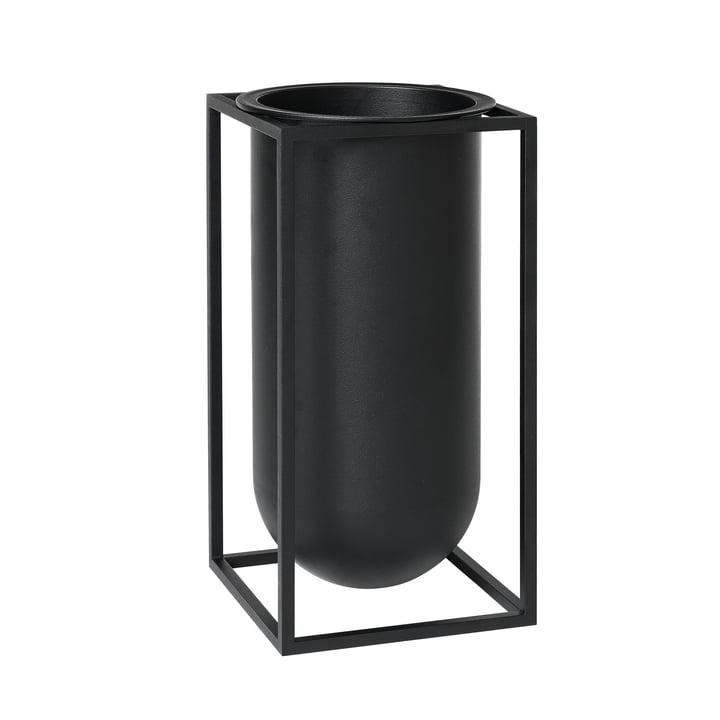Kubus Vase Lolo from by Lassen in Black