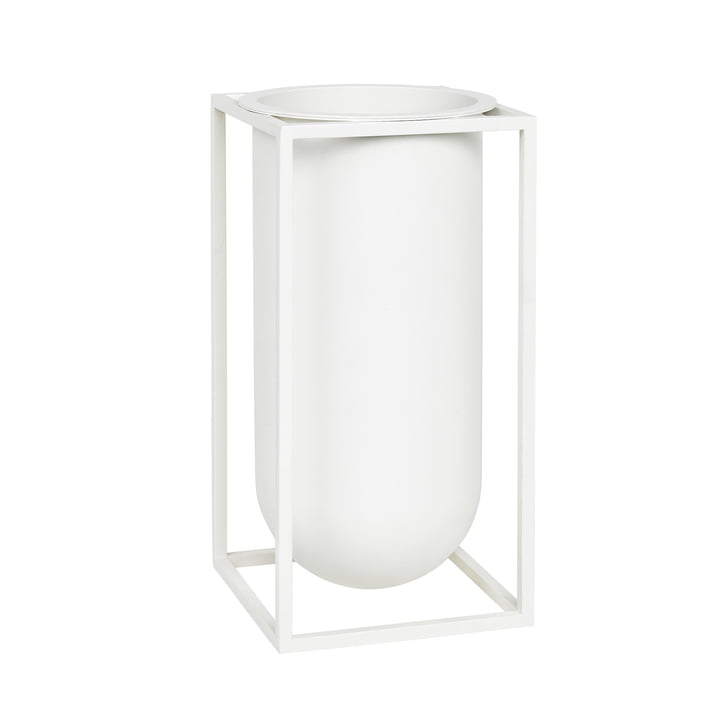 Kubus Vase Lolo from by Lassen in White