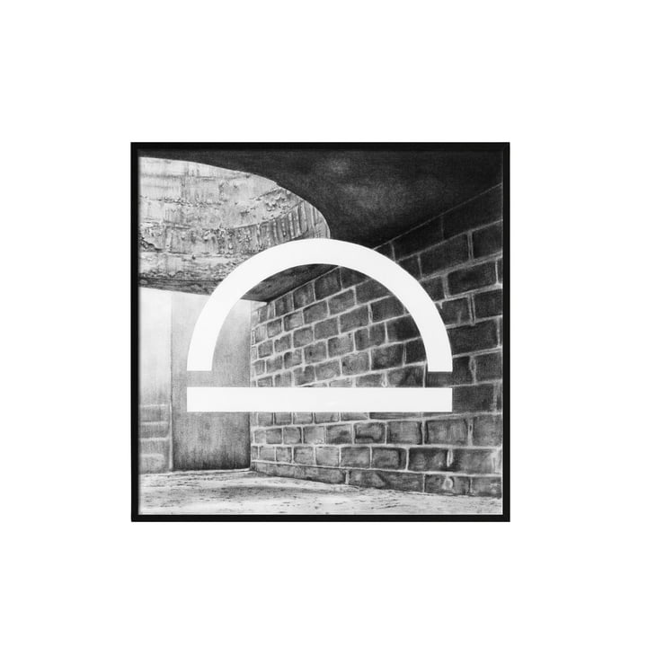 Silhouette Poster 29.7 x 29.7 cm from by Lassen in Grey