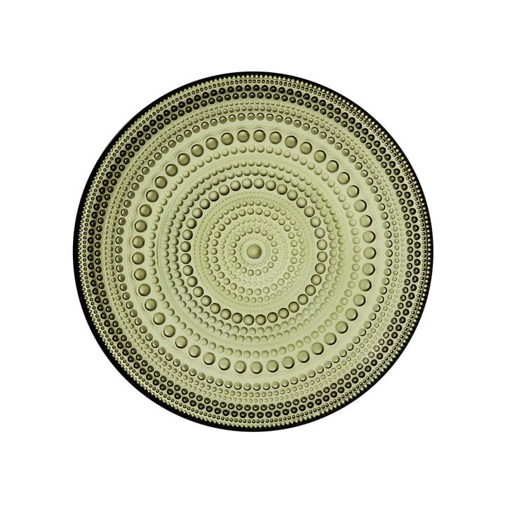 Kastehelmi Plate Ø 17 cm from Iittala in moss green