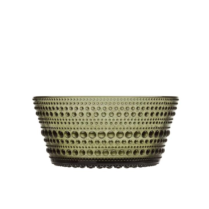 Kastehelmi Bowl 0,23 l from Iittala in moss green
