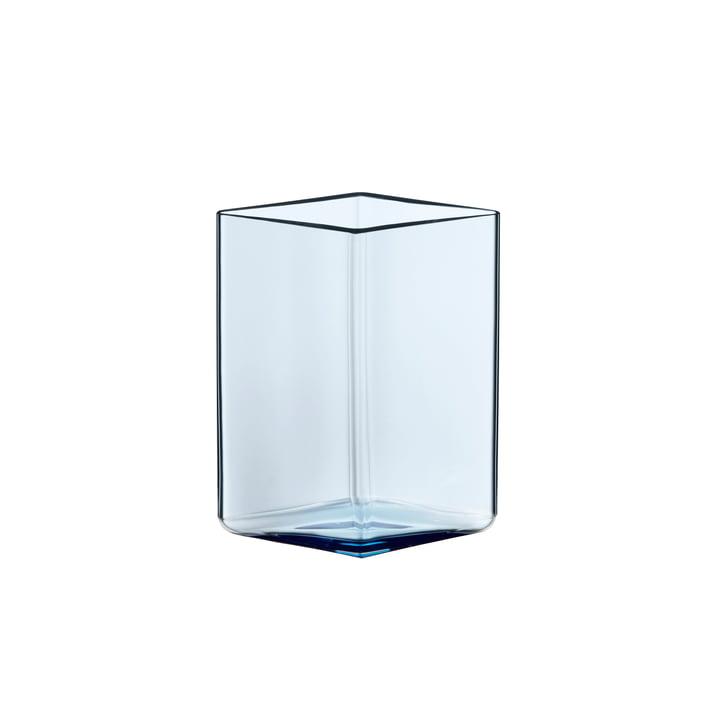 Ruutu Vase 115 x 140 mm from Iittala in Aqua