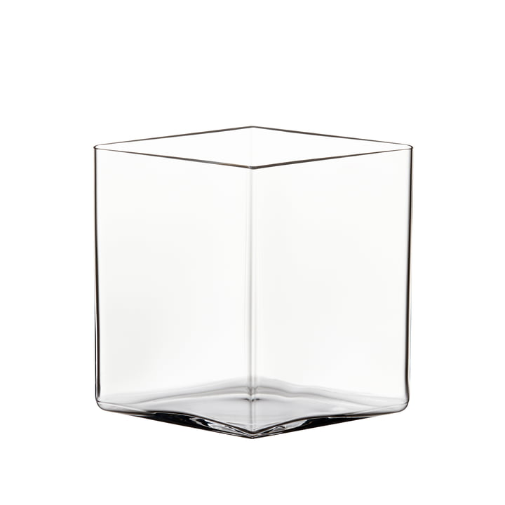 Ruutu Vase 205 x 180 mm from Iittala in clear