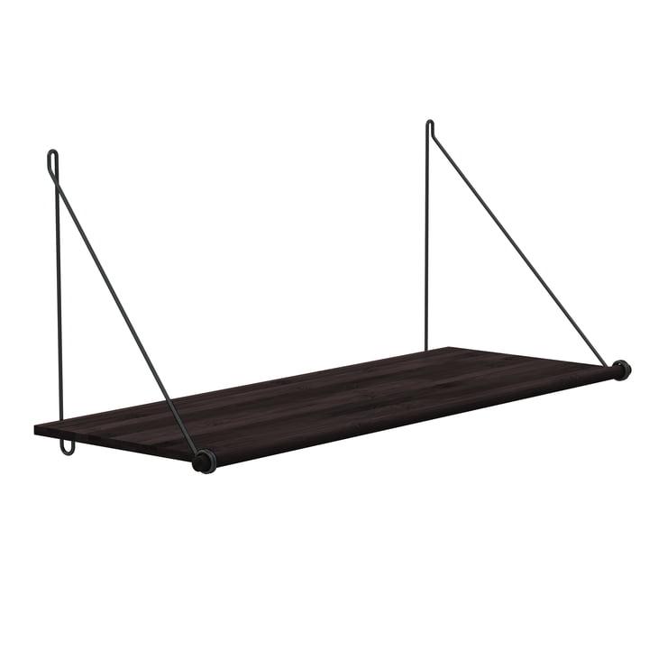 Loop Shelf by We Do Wood in Dark Bamboo / Black
