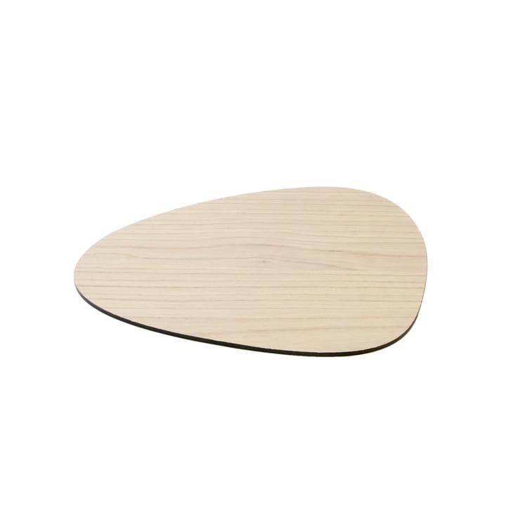 Cut & Serve Cutting board Curve S 25 x 21 cm by LindDNA in ash
