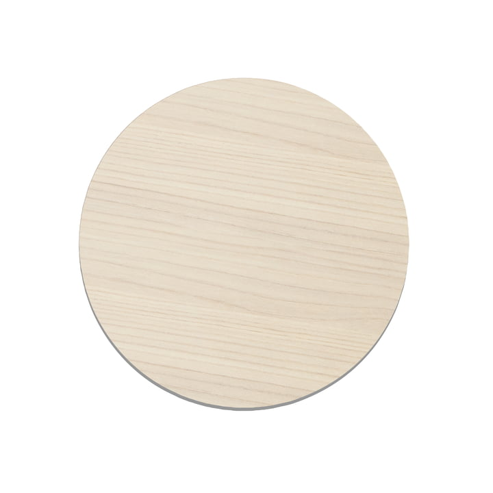 Cut&Serve Circle Chopping Board S, Ø 24 cm by LindDNA in Ash