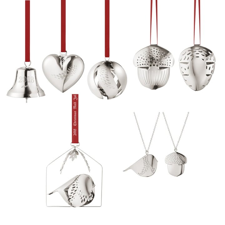 The Georg Jensen - Christmas Collectibles 2018 Gift Set (8 pcs.), palladium