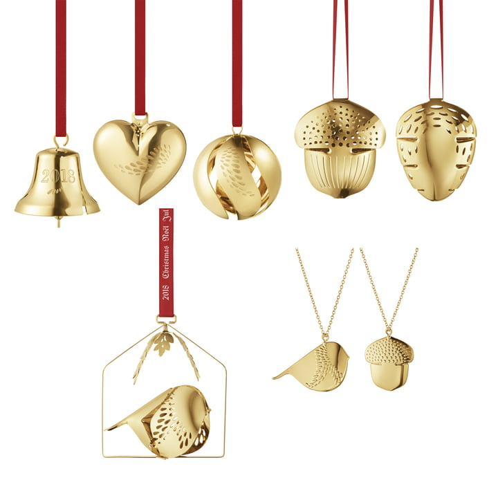 The Georg Jensen - Christmas Collectibles 2018 Gift Set (8 pcs.), gold-plated