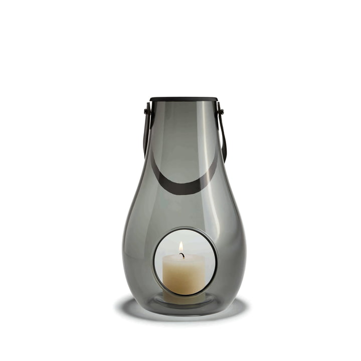 Design with light Lantern H 25 cm from Holmegaard in Smoke
