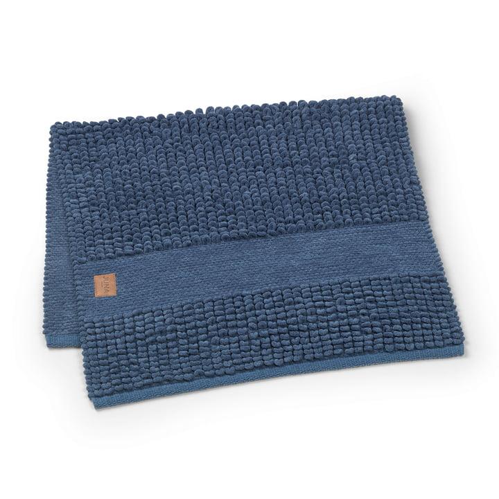 Check bath mat 100 x 60 cm by Juna in dark blue