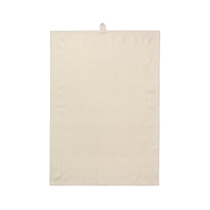 Waffle Dish Towel 50 x 70 cm by Juna in Sand