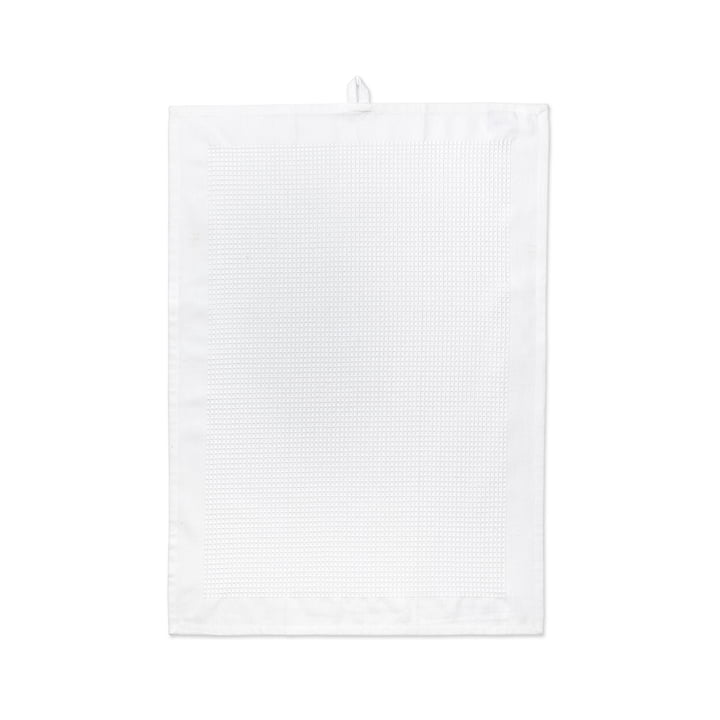 Waffle Dish Towel 50 x 70 cm by Juna in White