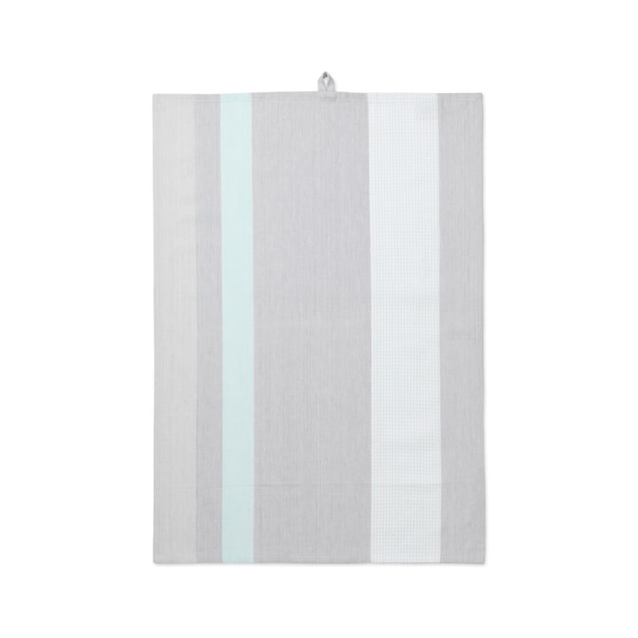 Grid teatowel 50 x 70 cm by Juna in Green