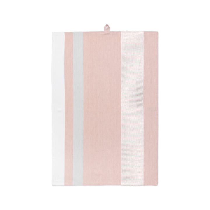Grid teatowel 50 x 70 cm by Juna in Nude