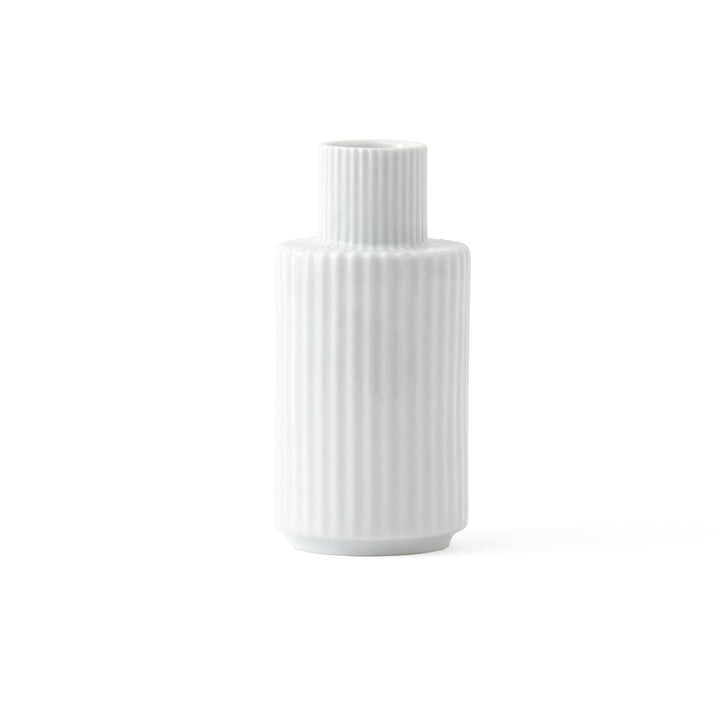 Candle holder H 11 cm from Lyngby Porcelæn in white