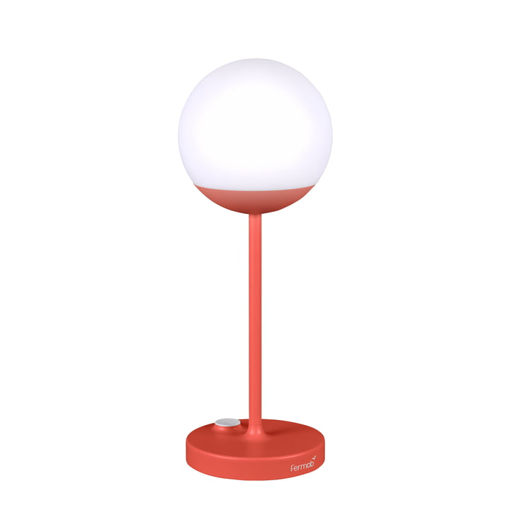 Mooon! Battery LED Lamp H 40 cm by Fermob in Capucine