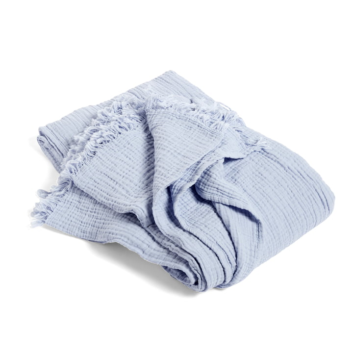 Crinkle Bedspread by Hay in Light Blue