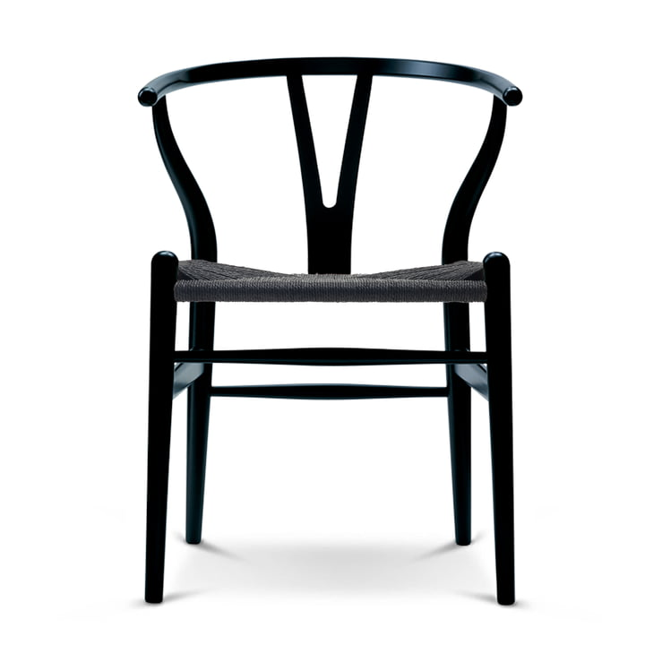 The Carl Hansen - CH24 Wishbone Chair , beech black / black weave