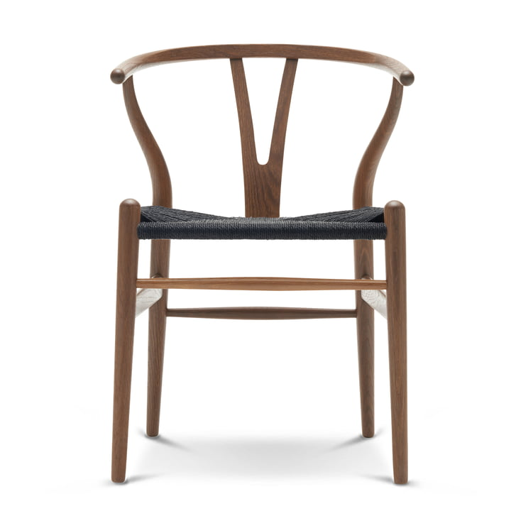 The CH24 Wishbone Chair by Carl Hansen in Black Beech / Black Wicker