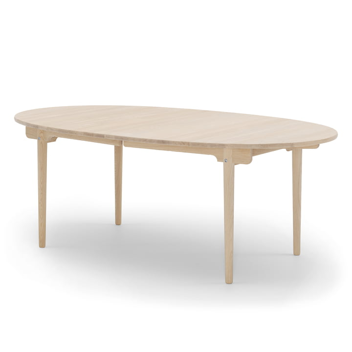 The Carl Hansen - CH338 Extendable Dining Table, 200 x 115 cm, soaped oak