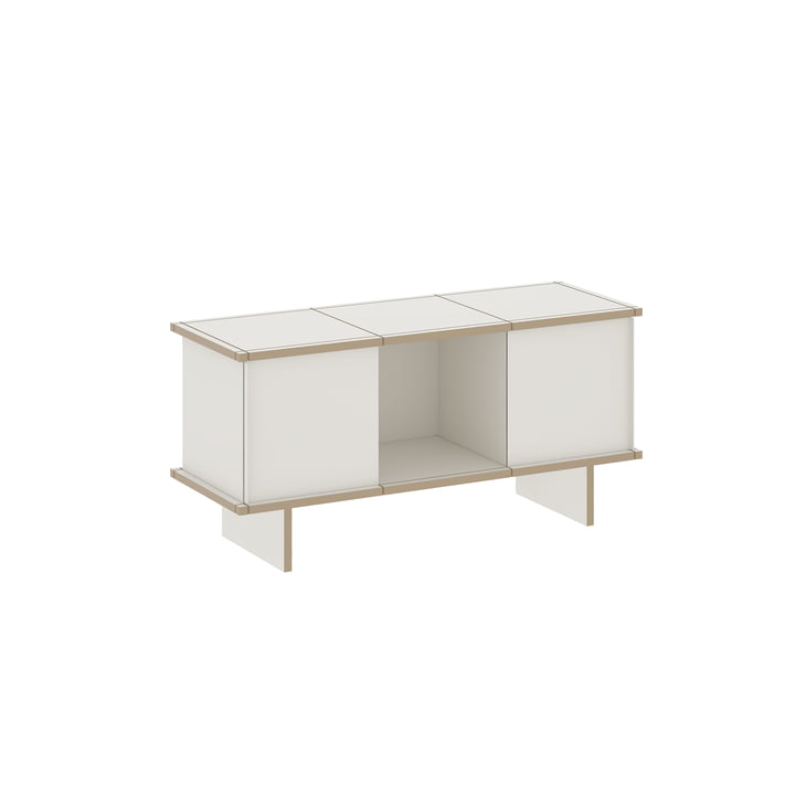 The Konstantin Slawinski - YU Sideboard Set 3 x 1, MDF white / white