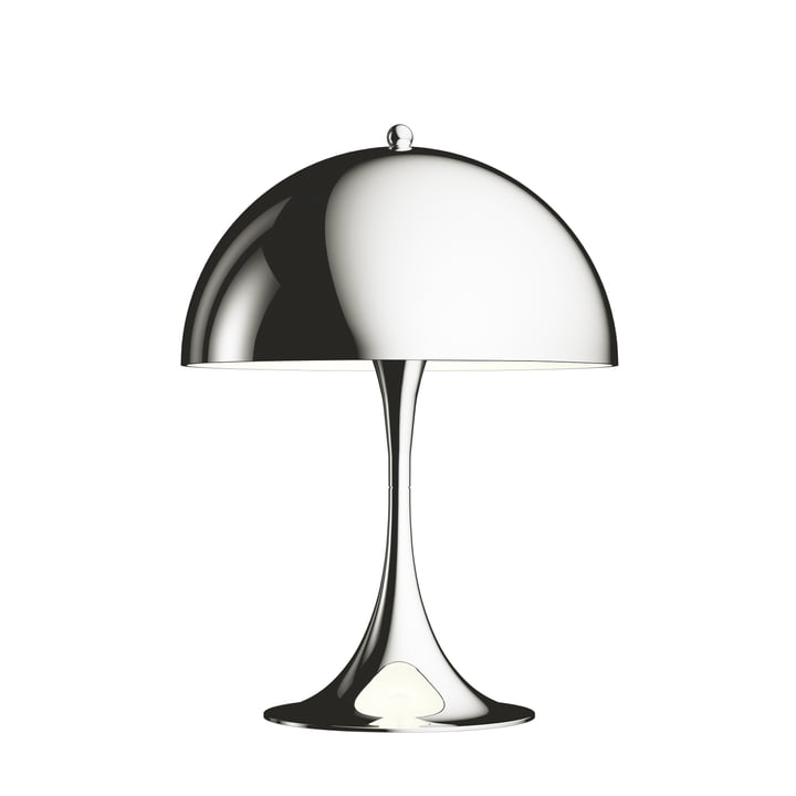 The Louis Poulsen - Panthella Mini Table Lamp Ø 25 cm, chrome plated