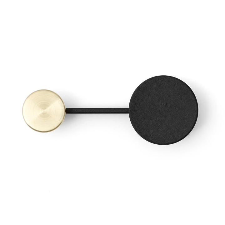 Small Afteroom Coat Rack by Menu in Black / Brass