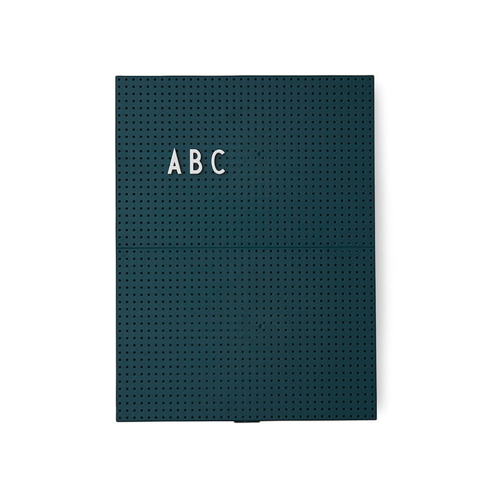 The Design Letters - Message Board A4, Dark Green