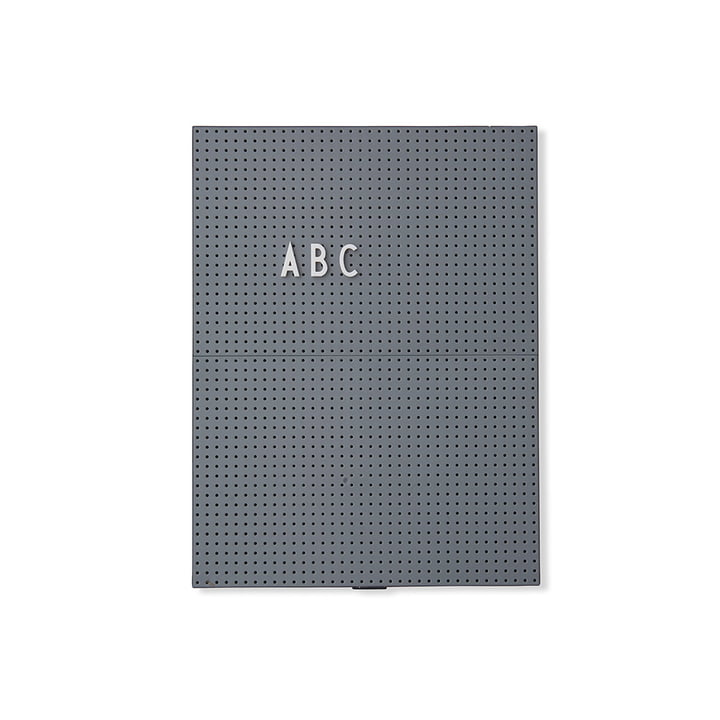 The Design Letters - Message Board A4, Dark Grey