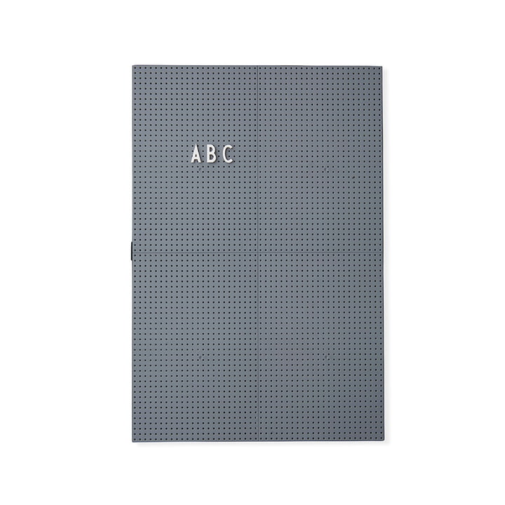 The Design Letters - Message Board A3, Dark Grey