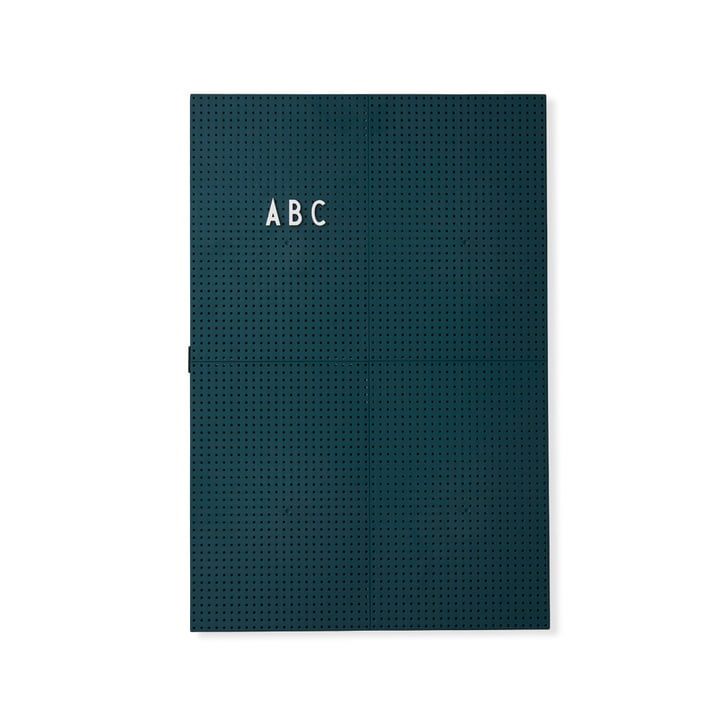 The Design Letters - Message Board A3, Dark Green
