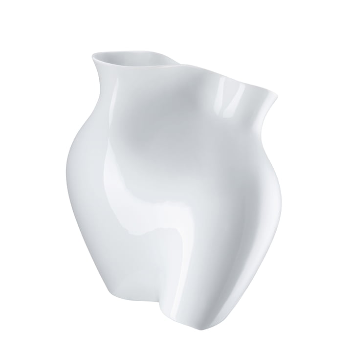 La Chute Vase H 26 cm by Rosenthal in White