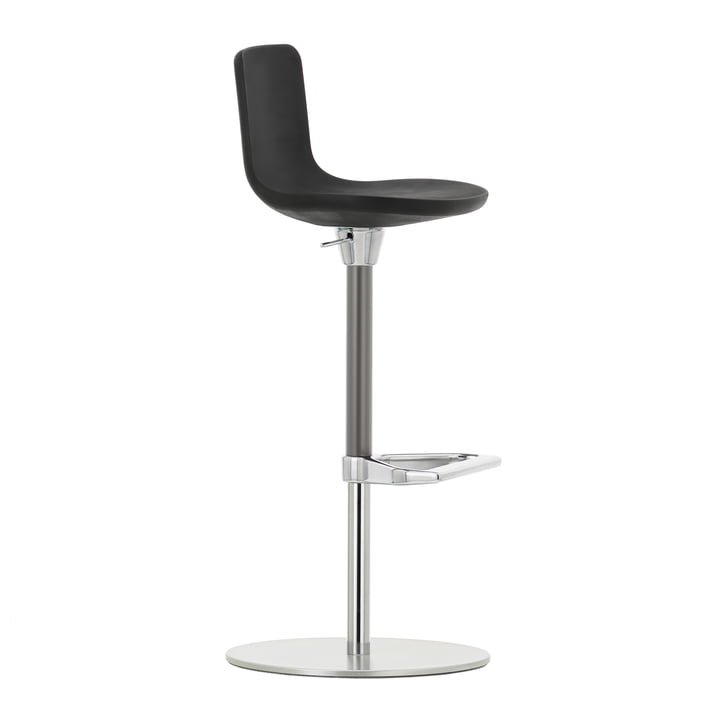 Zeb Stool Foam Back by Vitra in Polished Chrome / Black