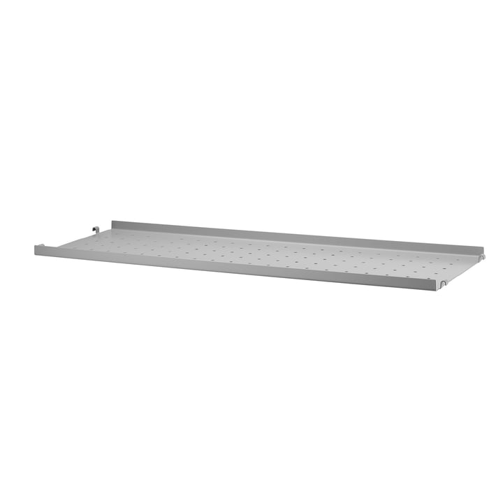 Metal floor with low edge 78 x 20 cm from String in grey