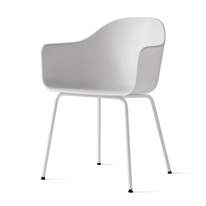 Harbour Chair (Steel) by Menu in Light Grey