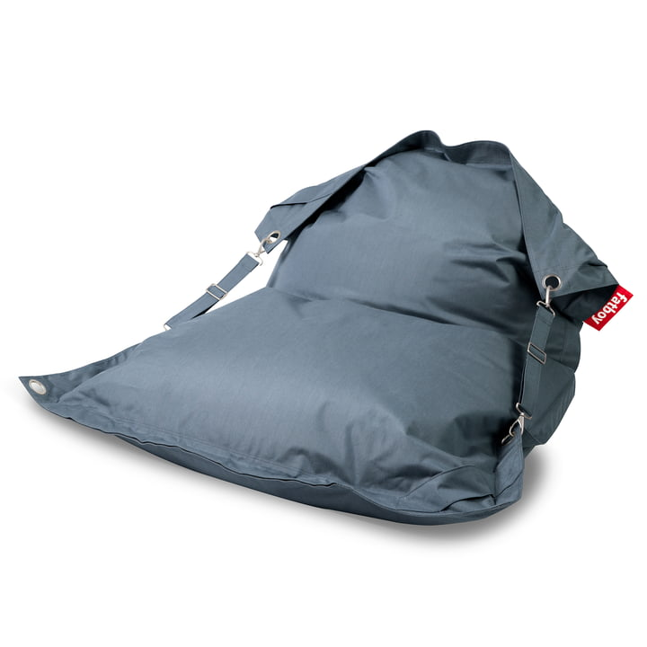 The Fatboy - Buggle-Up Outdoor Beanbag, steel blue