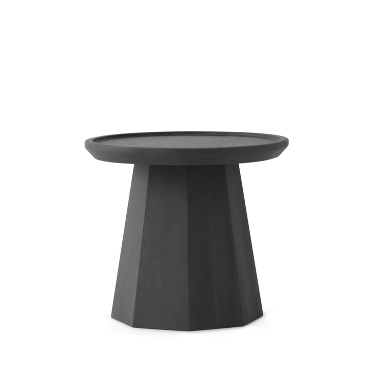Normann Copenhagen - Pine Side Table Ø 45 x H 40.6 cm, Dark Grey
