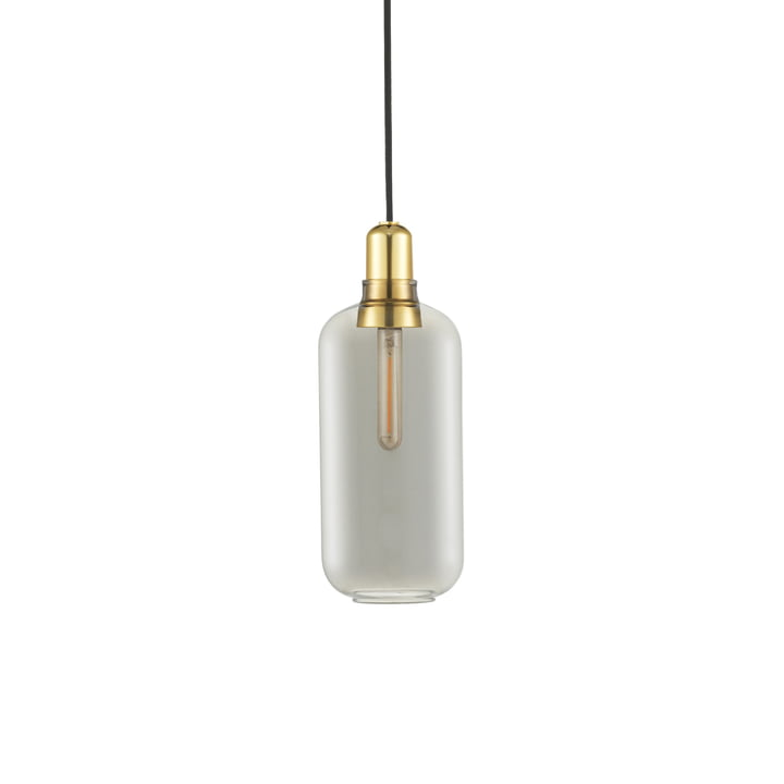 Normann Copenhagen - Amp Pendant Lamp large, smoke / brass
