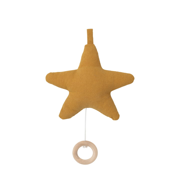 ferm Living - Star Music Mobile, mustard