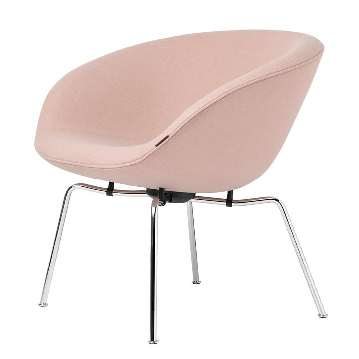 Fritz Hansen - Pot Chair, Chromed Frame / Pink (Fritz Hansen Colours)