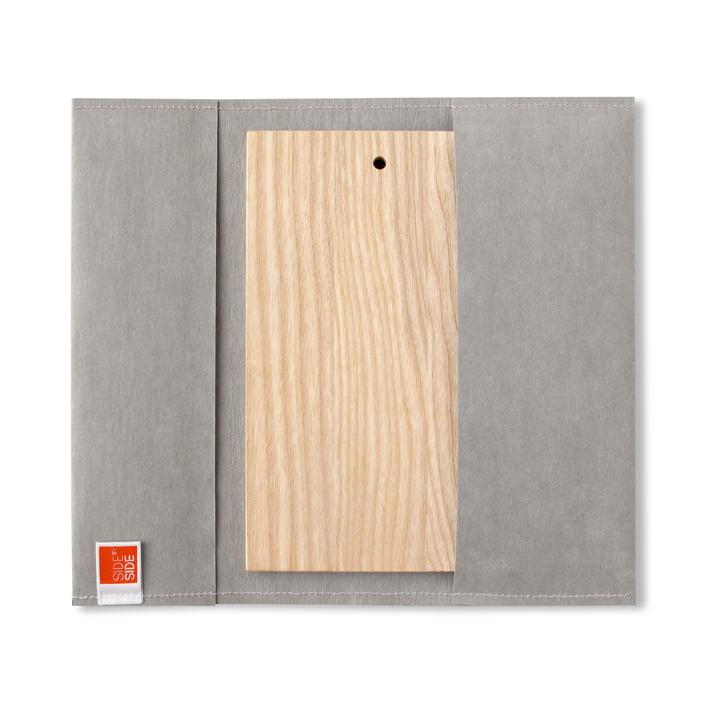 side by side - outdoor Board, 23.5 x 13 cm, grey sleeve