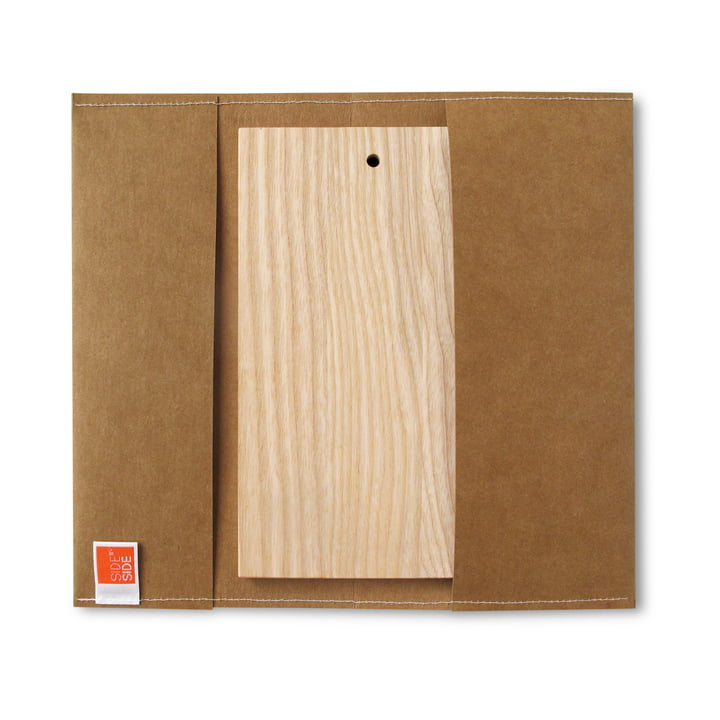 side by side - outdoor Board, 23.5 x 13 cm, brown sleeve
