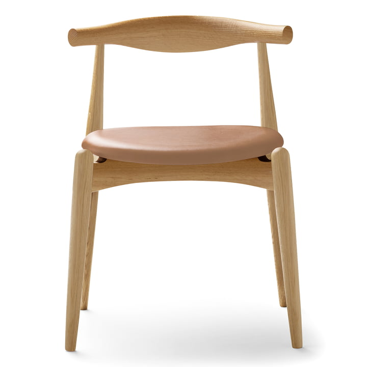 Carl Hansen - CH20 Elbow Chair, Soaped Oak / Leather (Thor 325)
