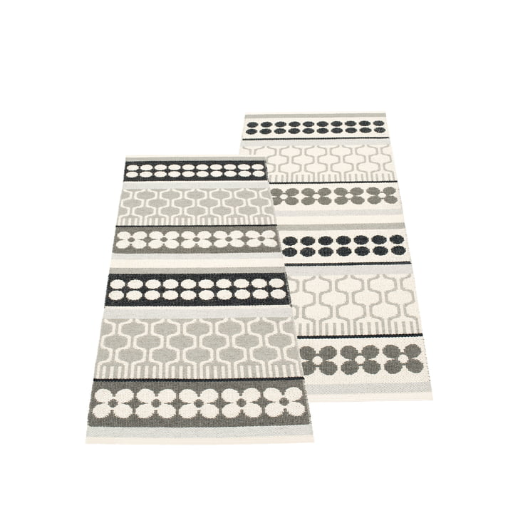 Asta Reversible Rug 70 x 180 cm by Pappelina in Warm Grey