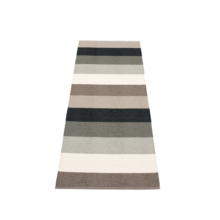 Molly Rug, 70 x 200 cm by Pappelina in Mud