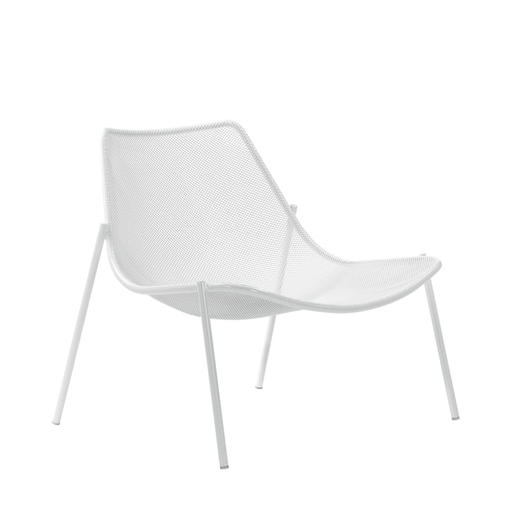 Emu - Round Lounge Chair, white