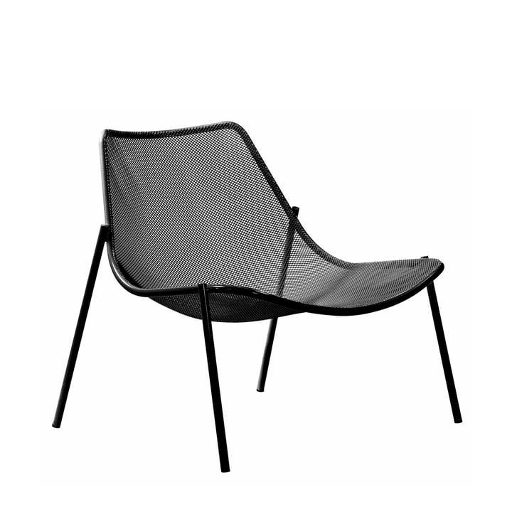 Emu - Round Lounge Chair, black